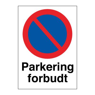 skilte parkering forbudt